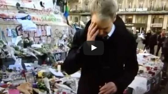بكاء مراسل BBC على الهواء بسبب #أحداث_باريس