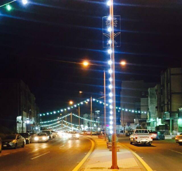 بلدية أضم تسْتقْبل العيد بالزينة وتجهيز الحديقة العامة (1)