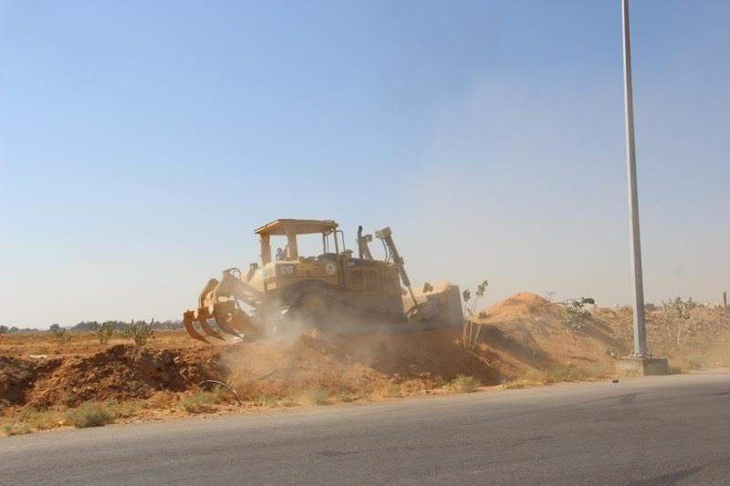 بلدية الدلم بعد إزالة تعديات 60 ألف متر