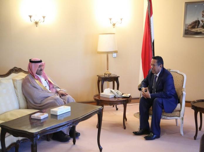بن دغر مع السفير السعودي في اليمن