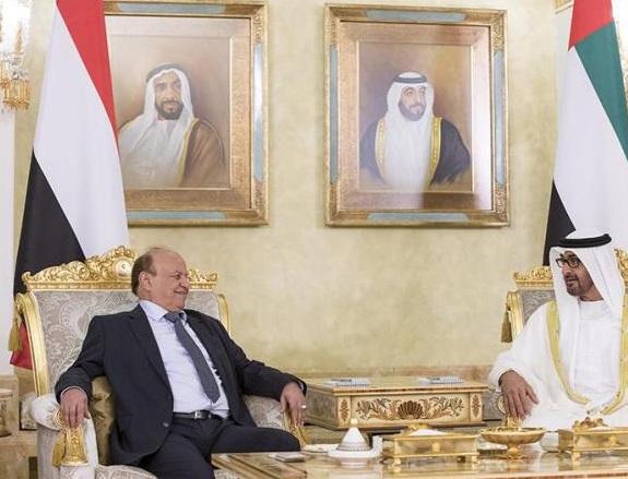 بن زايد و الرئيس اليمني هادي