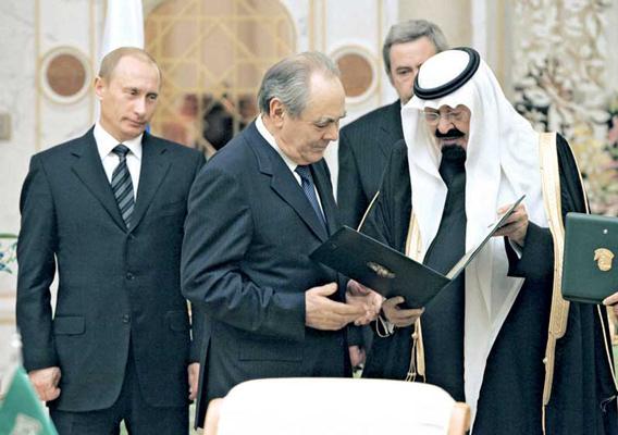 بوتين والملك عبدالله