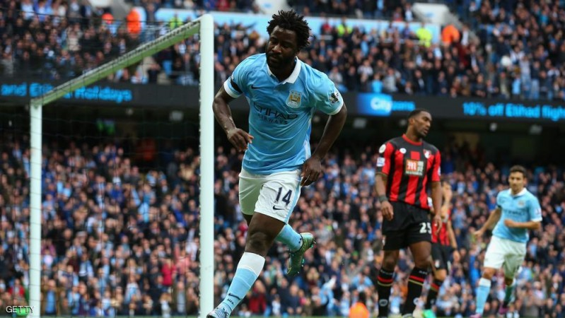 MANCHESTER, ENGLAND - OCTOBER 17:  Wilfred Bony of Manchester City celebrates scoring his team's second goal during the Barclays Premier League match between Manchester City and A.F.C. Bournemouth at Etihad Stadium on October 17, 2015 in Manchester, England.  (Photo by Alex Livesey/Getty Images)