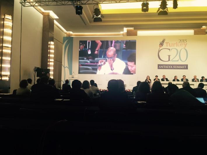بيان مشترك للمجموعات المشاركة في #قمة_العشرين يطالب بتحرك لمعالجة أزمة اللاجئين (1)
