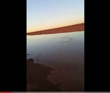 تجمد المياة شمال السعودية