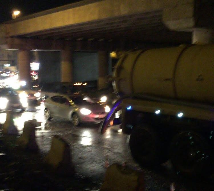 تجمعات مياه الامطار بمستشفى الملك فهد بـالباحة (5)
