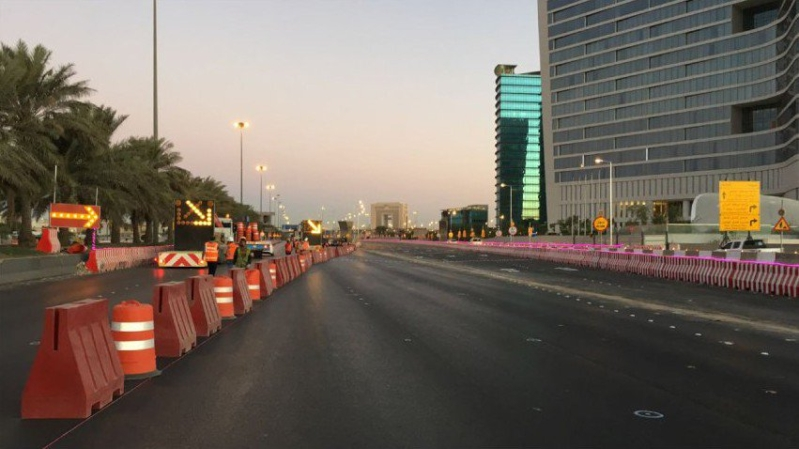 الرياض: بدء تفعيل تحويلة طريق الدائري الشرقي بين مخرجي 8 و 9