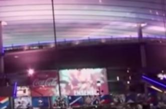 تدافع جماهير مباراة فرنسا وألمانيا بعد التفجيرات خارج الملعب في باريس