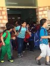 تدافع طلاب