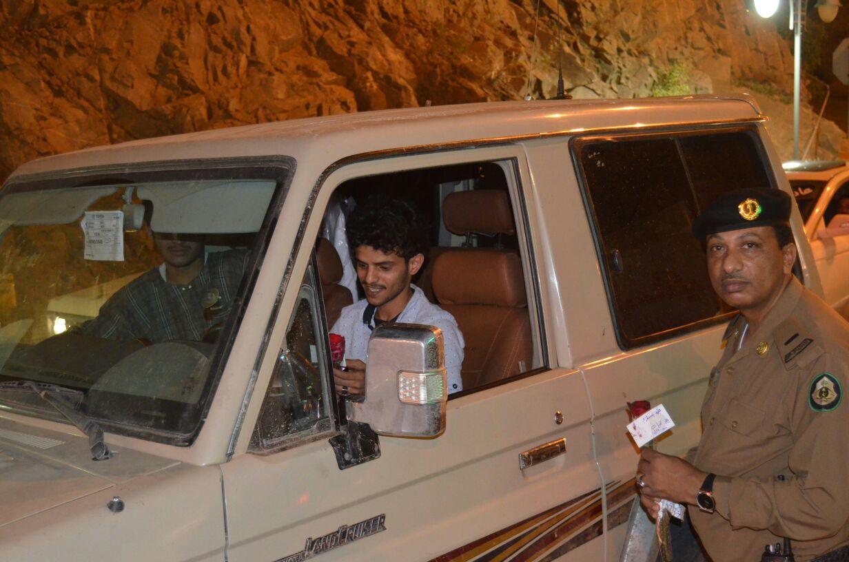 """تدشين حملة """"عيد بسلام"""" المرورية في داير جازان (1)"""