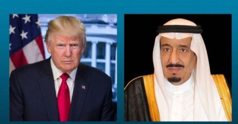 الملك يؤكد في اتصال هاتفي بترامب تأييد السعودية للاستراتيجية الحازمة تجاه إيران