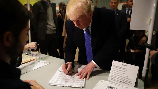 ترامب يصوت