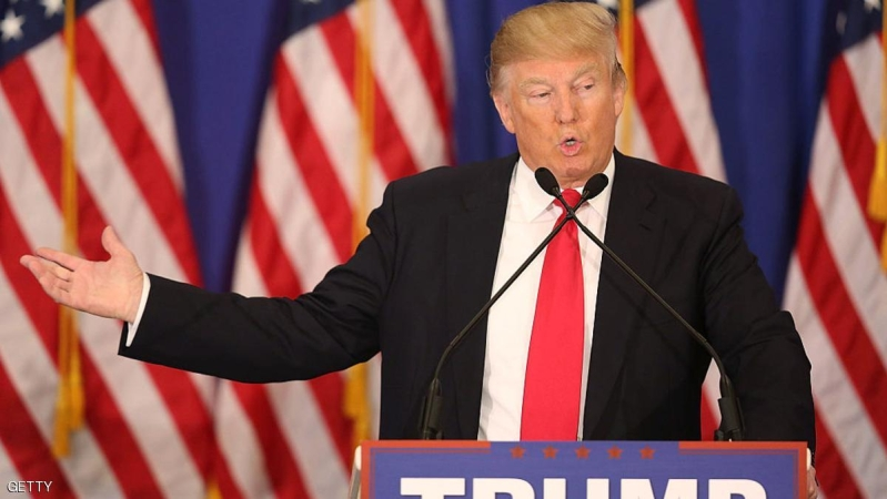 JUPITER, FL - MARCH 08:  Republican presidential candidate Donald Trump speaks during a press conference at the Trump National Golf Club Jupiter on March 8, 2016 in Jupiter, Florida. Mr. Trump and other Republican candidates wait for votes to be counted in Michigan, Mississippi, Idaho, and Hawaii.  (Photo by Joe Raedle/Getty Images)