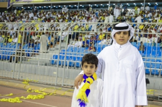ابنا البطل عبدالرحمن الشهراني يخطفان الأضواء قبل ديربي الهلال والنصر - المواطن