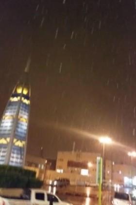 تساقط ثلوج الرياض