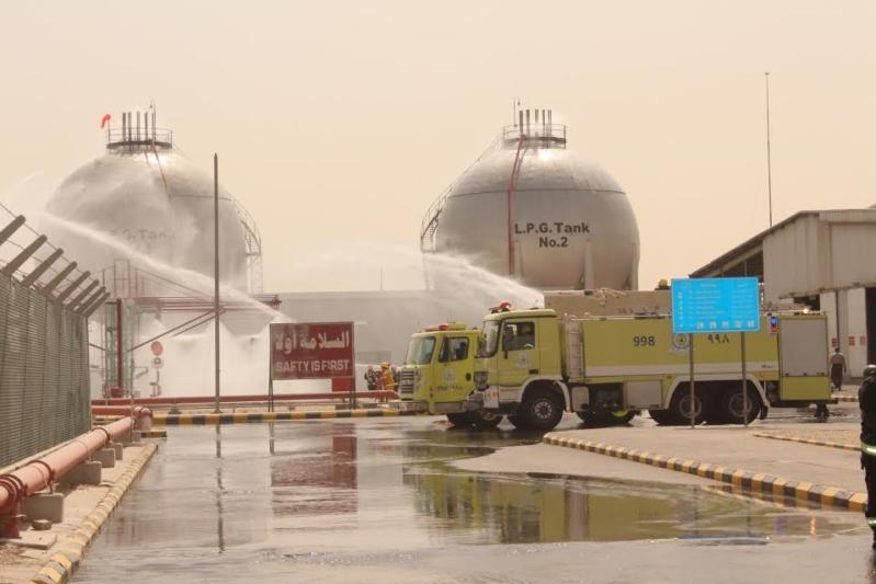تسرب غاز وحريق جزئيّ في محطة غازكو بالرياض.. فرضيّة جدّية