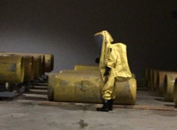 تسريب الكلور بمحطة معالجة المياه في خميس مشيط (1)