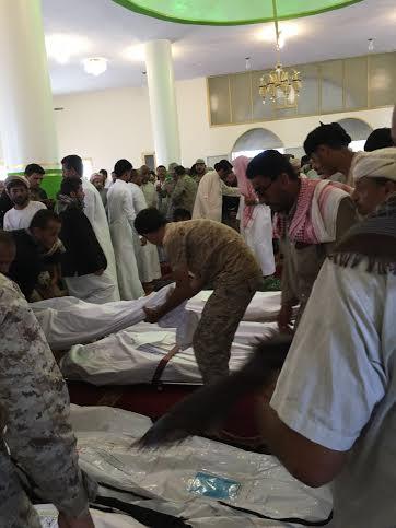 تشييع 7 شهداء من المقاومة اليمنية