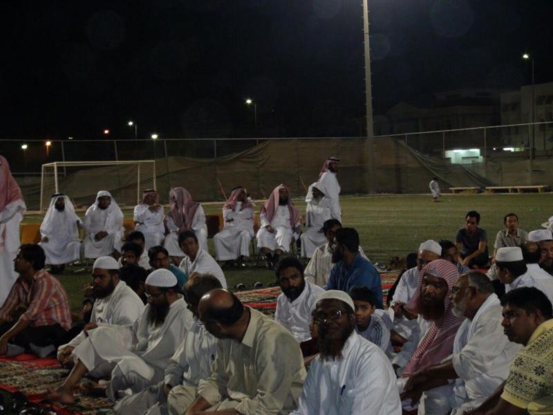 تعاوني المبرز يقيم حفل معايدة لشعبة الجاليات في حفل بهيج وإسلام شخصين من الفلبين4