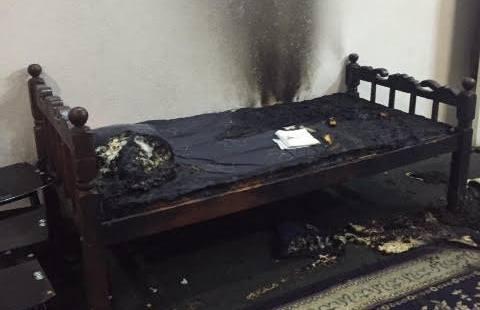 تعبئة مدفئة كروسين بطريقة خاطئة تتسبب بحريق شقة (1)