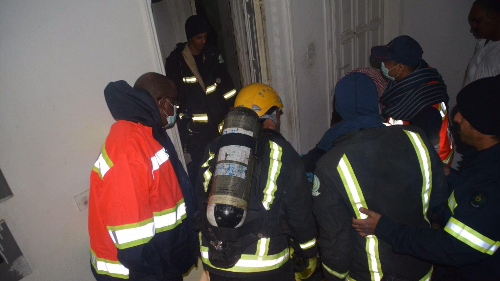 تعبئة مدفئة كروسين بطريقة خاطئة تتسبب بحريق شقة (3)