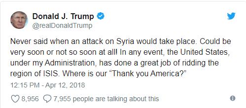 بعد تغريدته الأخيرة.. ترامب وروسيا يسعيان لتجنب الصدام العسكري في سوريا