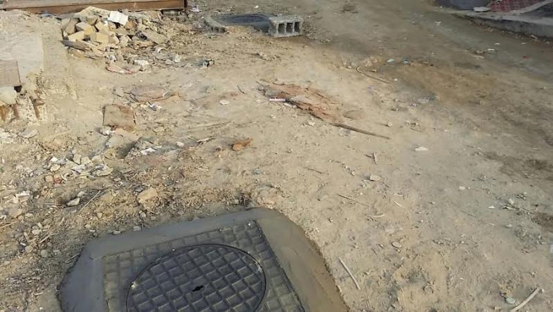 تغطية خزان الصرف المكشوف بشامية1
