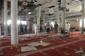 مقطع صوتي للحظة التفجير الإرهابي في مسجد القديح