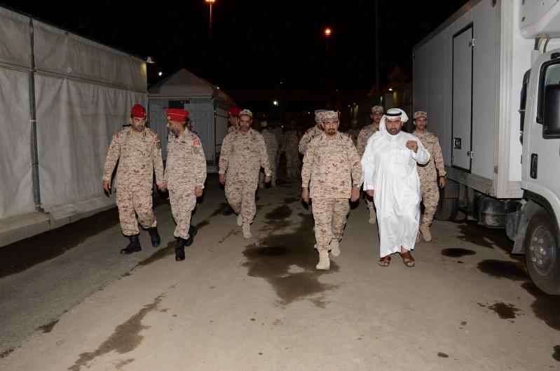 تفقد وحدات الحرس الوطني بالحج (2)
