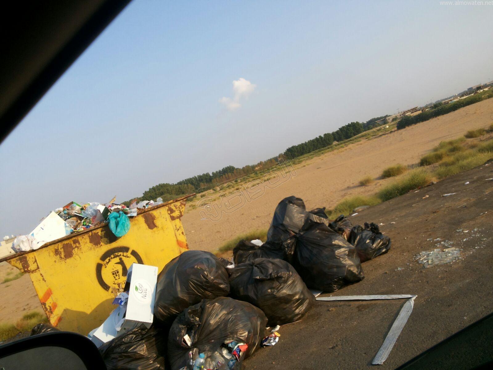 تكدس النفايات في كربوس #جازان منذ شهرين (6)