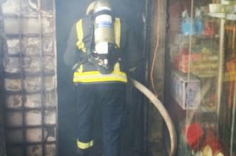 التماس كهربائي يتسبب بحريق محل تجاري في ضمد - المواطن