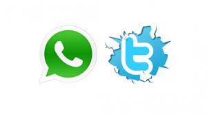 تويتر و واتساب
