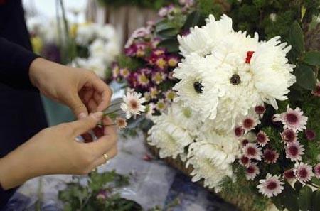 تنسيق زهور