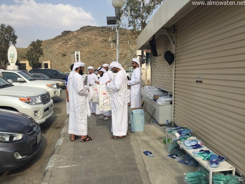 توافد الحجاج لميقات وادي محرم (5)