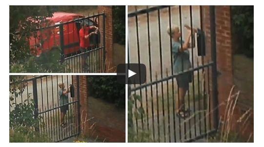 جارة تسرق صندوق بريد