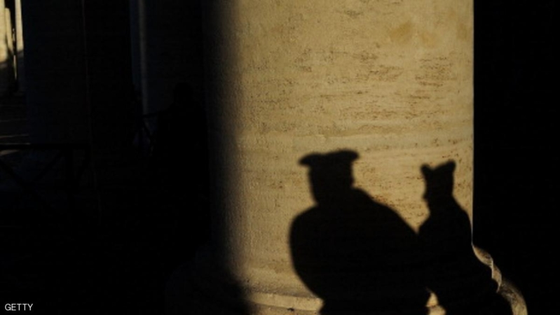 VATICAN CITY, VATICAN - MARCH 18:  The shadows of two policemen are viewed in St Peter's Square as workers prepare for the inauguration mass of Pope Francis on March 18, 2013 in Vatican City, Vatican. The Inauguration Mass for Pope Francis will take place on March 19, the feast day for St. Joseph.  (Photo by Spencer Platt/Getty Images)