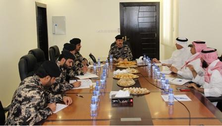جانب من لقاء قائد قوة أمن المنشآت برئيس مجلس غازكو