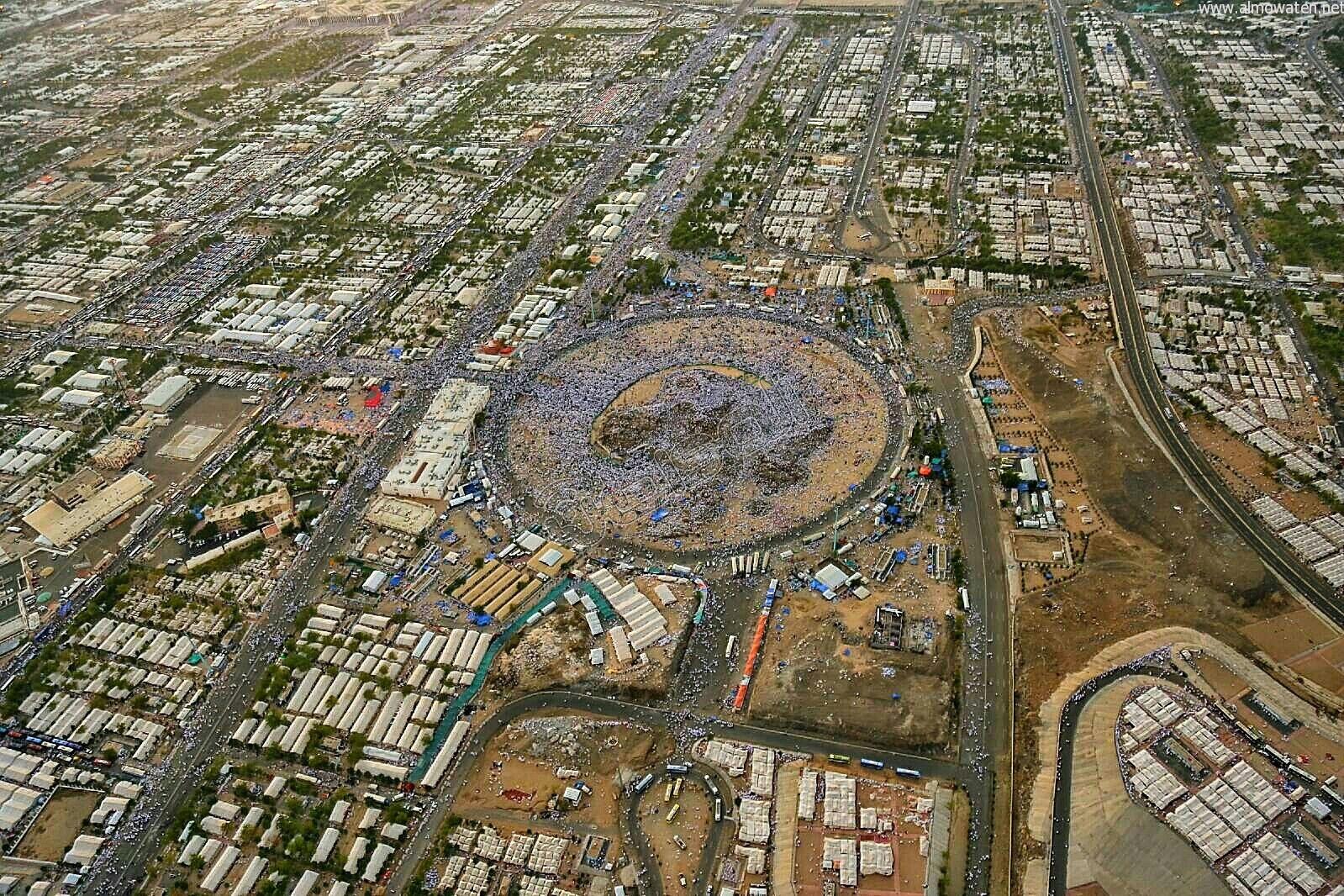 """شاهد بالصور.. هذا ما رصدته """"المواطن"""" من سماء عرفات - المواطن"""