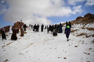 جبل اللوز يستقطب هواة التزلج على الجليد10
