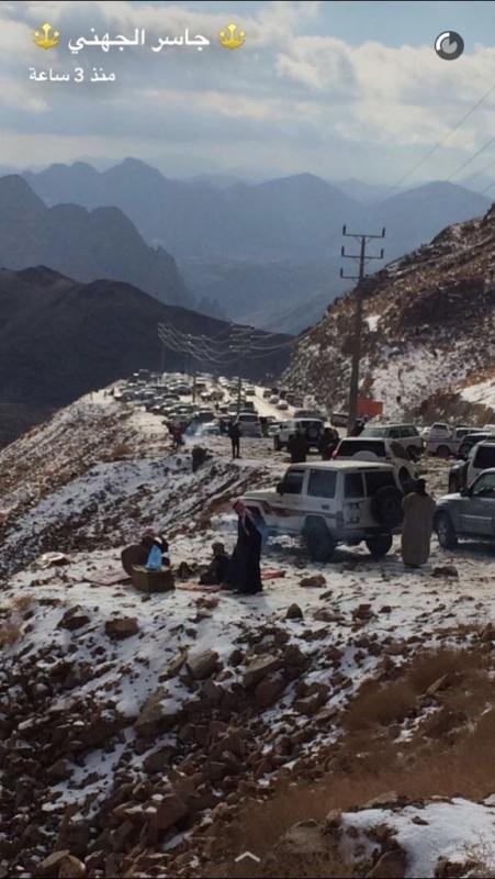 جبل اللوز على موعد جديد مع الثلوج اليوم صحيفة المواطن الإلكترونية