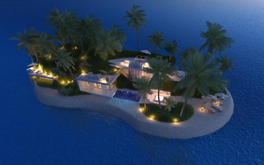 بالصور.. تصميمات مبهرة لأول جزر خاصة متنقلة في العالم - المواطن