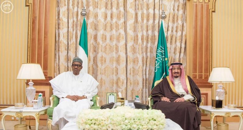 جلسة مباحاثات خادم الحرمين الشريفين لرئيس جمهورية #نيجيريا