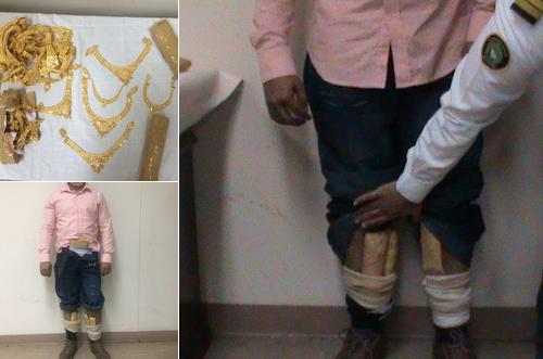 جمرك مطار الملك فهد يحبط تهريب 397 قطعة من الذهب المشغول