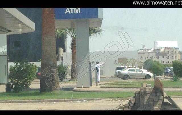 حادثة مسلح يهاجم بنك الراجحي