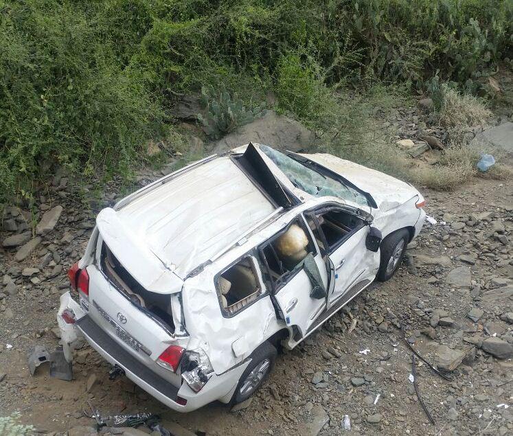 حادث انقلاب سيارة بجازان (3)