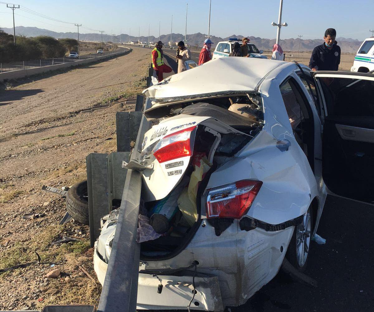 حادث تصادم بالمدينة المنورة