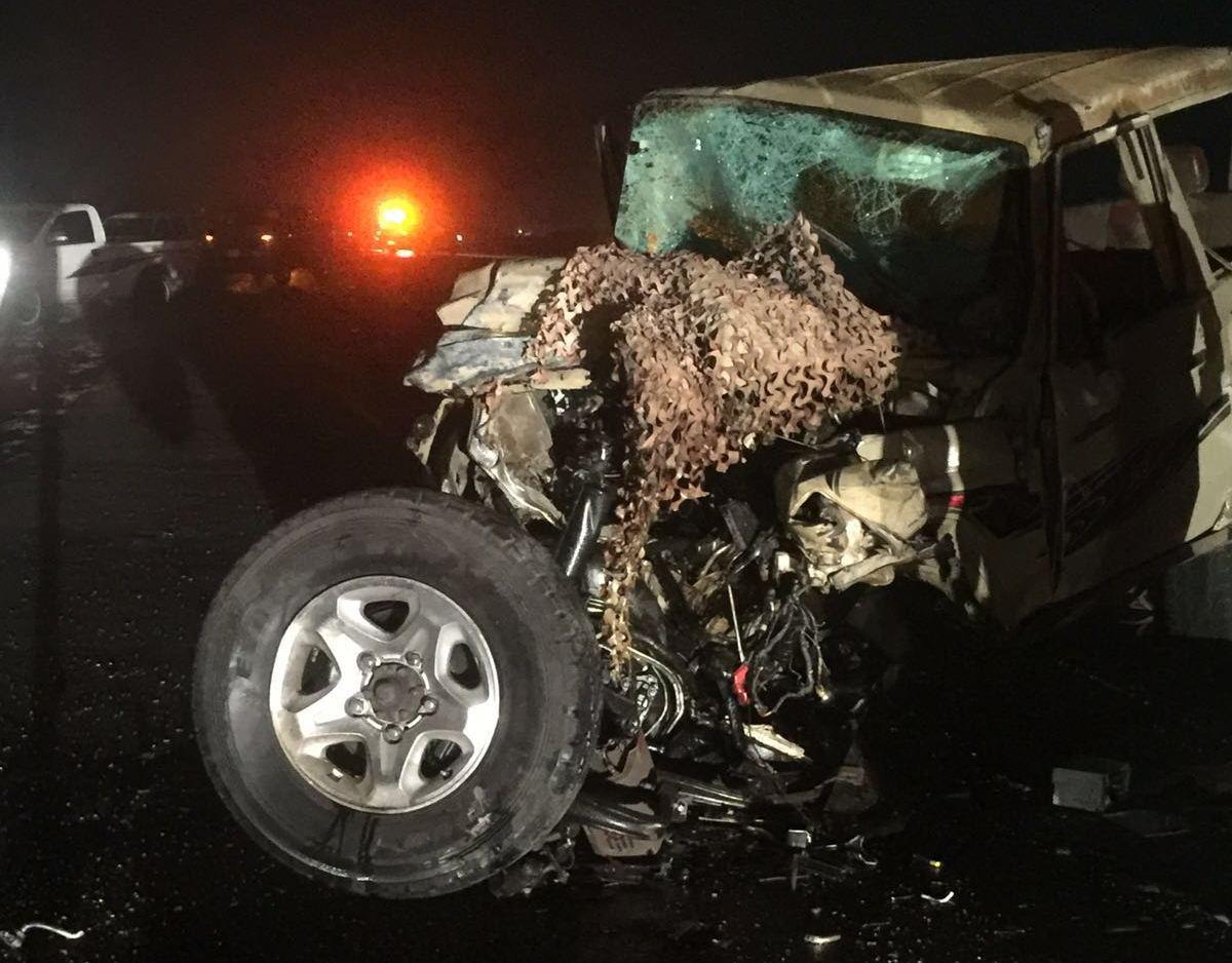 حادث تصادم بعارضة جازان (2)