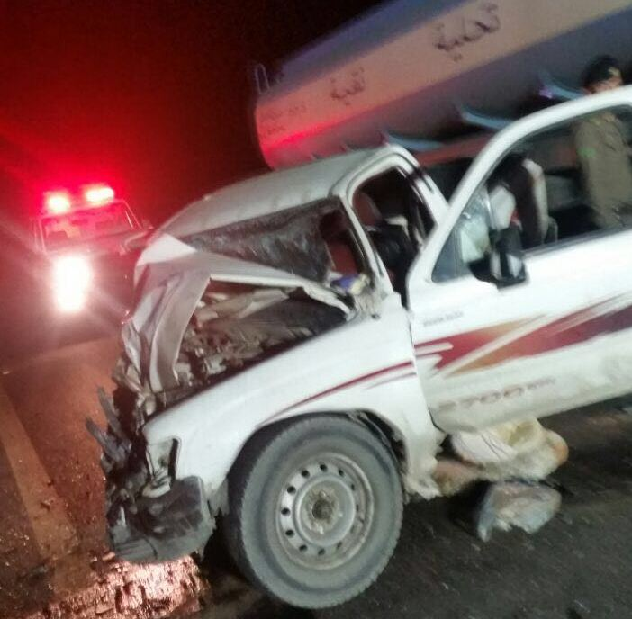 حادث تصادم على طريق عشيرة بالطائف (2)