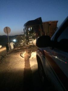 حادث تصادم على طريق ينبع القديم1