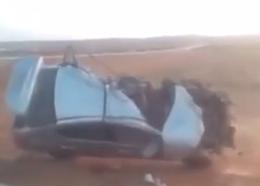 بالفيديو .. مواطن يوثق حادث تصادم مركبة وشاحنة وسيارته تدفع الثمن - المواطن